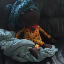 Mütze aus Baumwolle und Seide