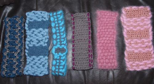 Maulbeer-Seide, Angora  und schöne Merinowolle sind hier die Materialien der Bänder